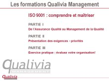 Formation accompagnement ISO 9001 Qualivia Management
